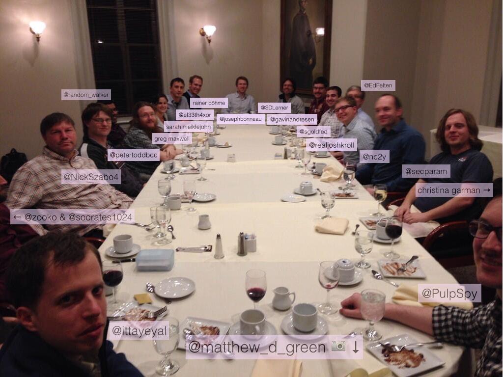 تصویری از محققان و توسعه دهندگان هسته اصلی شبکه بیت کوین با حضور نیک زابو