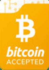 بیت کوین و دیگر ارزهای دیجیتال پذیرفته می شود.