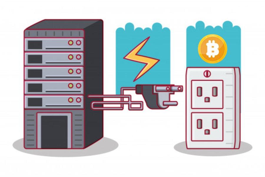 مصرف برق بیت کوین
